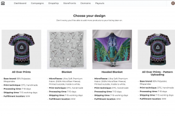 Pattern uploading is now available for All over print