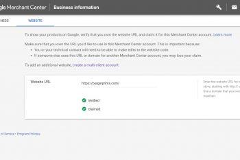 How to verify URL and claim site for Google Merchant Center