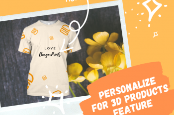 Personalized feature for all-over-print campaigns on BurgerPrints platform.